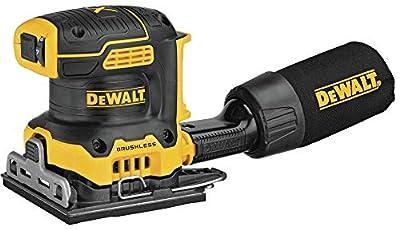 DEWALT 20V MAX XR Palm Sander, Sheet, Variable Speed, 1/4-Inch, Tool Only (DCW200B) from Dewalt