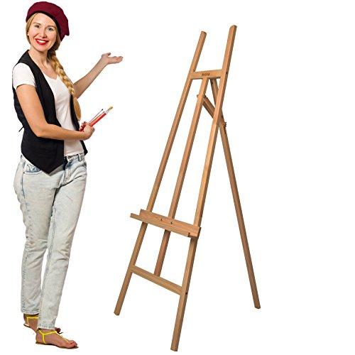 Artina Sevilla - Caballete de pintura de madera de haya maciza para todas las técnicas y artistas - Lienzos hasta 120 cm
