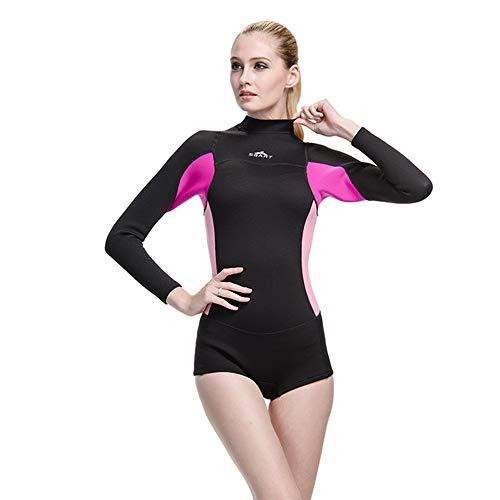 JSX Muta da Sub 2 m in Neoprene da Donna da Donna da Surf Costume Intero Tuta da Sub Immersioni subacquee a Maniche Lunghe scaldamano Tuta da Sub,Black,XL