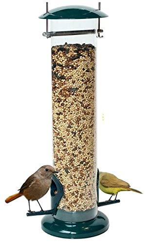 DAWN OF PETS V2 Tube Bird Feeder for Outside, Weather Proof, Hanging, Easy to Setup, Durable, Tube Bird Feeder for Outdoors, Wild Bird Feeder for Outdoors and for Backyard Decoration, July 4th Gift