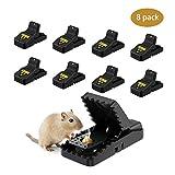 Awroutdoor 8 PCS Trampa Ratones, Trampas para Ratas,...
