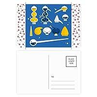 スポイトのゴムのドロッパーの化学 クリスマスの花葉書を20枚祝福する