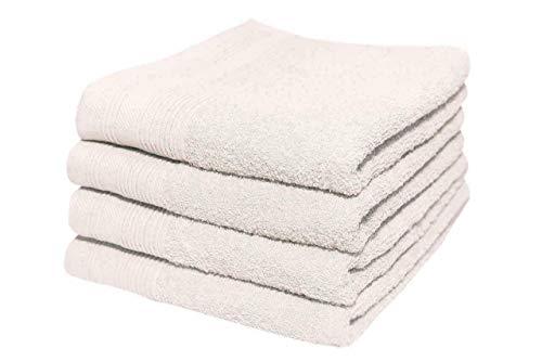 Toallas de mano 100% algodón peinado egipcio de lujo extra suaves para hotel y spa de 600 g/m² (50 x 90 cm) (paquete de 3 unidades), color blanco