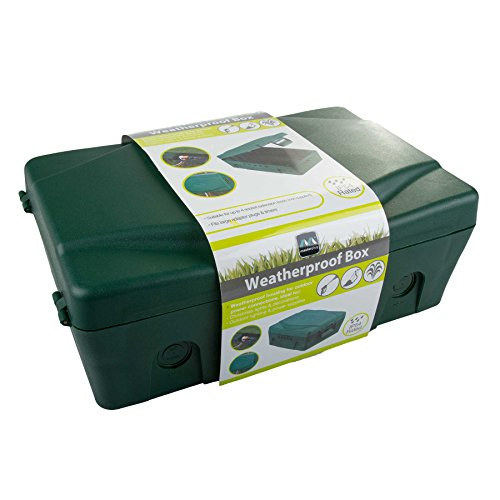 Masterplug - Scatola elettrica resistente alle intemperie, per esterni, 345 x 220 x 126,5 mm, colore: Verde