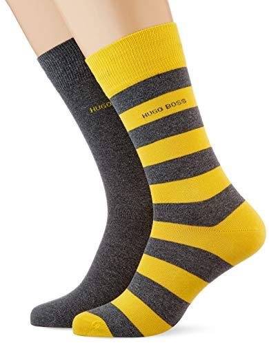 BOSS Herren 2P BlockStripeCol CC Socken, Bright Yellow731, 39-42