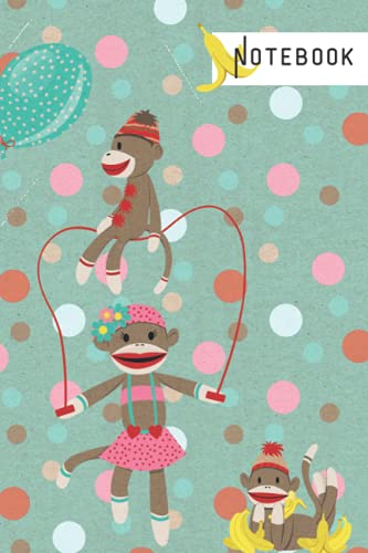 Sock Monkey lined notebook: for lovers of all things folk art and kitsch