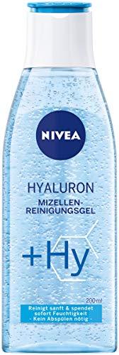 NIVEA Hyaluron Mizellen-Reinigungsgel (200 ml), sanftes Reinigungsgel mit Hyaluronsäure, Gesichtsreinigungsgel reinigt die Haut sanft und spendet intensive Feuchtigkeit