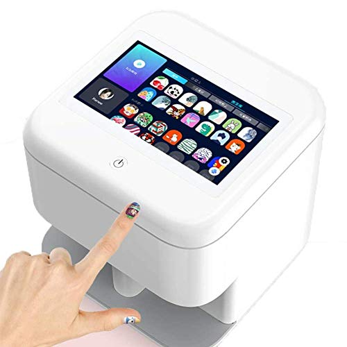 FEENGG 3D Nail Printer Machine Multifunction Portable Nail Art Printers Machine Transfer Picture Nails Machine - WiFi Wireless Easy