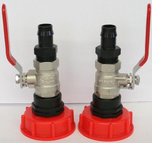 AMS60133MK187–2 x embout robinet en plastique, conteneur iBC-adaptateur-bidon-zysterne fitting/tonne