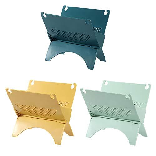 ZPFDM Rack de Almacenamiento de Drenaje de baño de 3 unids, Estante de Lavado Plegable, Lavado para el hogar, Cuidado de la Piel, Estante de Almacenamiento de Productos