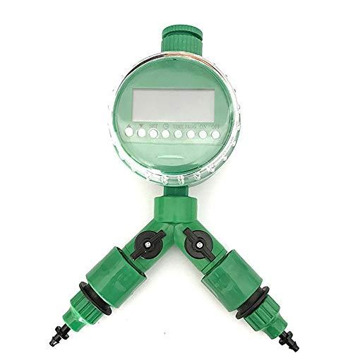 N\A Schlauch Sprinkler Wasser Timer 4/7 oder 8 / 11mm Analog Water Timer Digital-Bewässerung Automatische Bewässerung Y-Anschluss 3/4' Außengewinde Schnellkupplung (Color : Green)