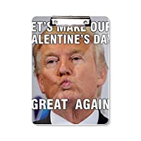 アメリカのばかな大統領は、トランプの画像 フラットヘッドフォルダーライティングパッドテストA4