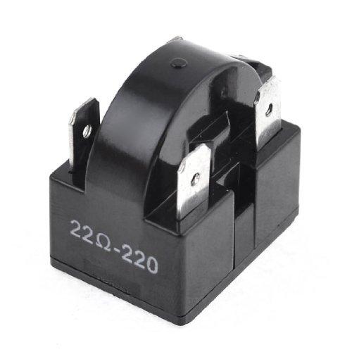 DealMux 4-Pin Frigorífico PTC Relé de Arranque reparación de Piezas de 22 Ohm Negro