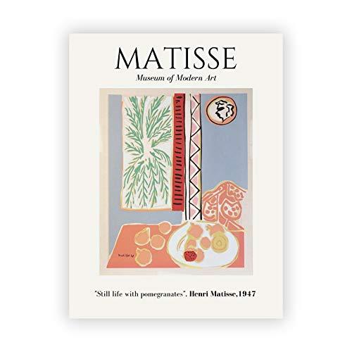 Abstracto Henry Matisse dibujo lineal arte minimalista lienzo pintura cartel retro hogar pintura decorativa sin marco H 20x30cm
