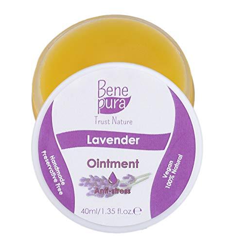 Natürliche Lavendel-Salbe 40 ml, kaltgepresstes Öl Extrakt, 100% natürlich - Lindert Hautausschläge, Dermatitis, Ekzeme - reines Naturkonzentrat - Handgefertigt in der EU