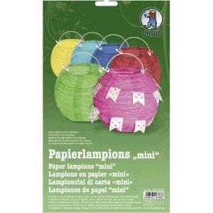 Ludwig Bähr Papierlampinion Mini Durchmesser 10cm farbig Sortiert VE=6 Stück