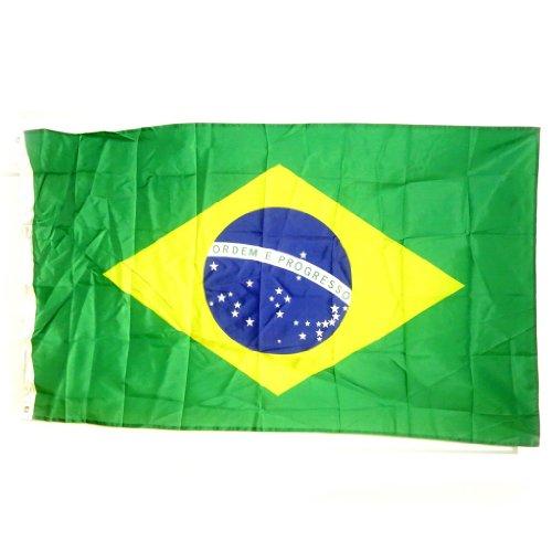 Les Trésors De Lily [L2249 - Drapeau 'Brésil' Vert - 90x150 cm