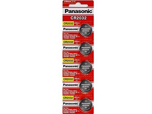 Panasonic CR2032 3 V batería de litio, paquete de 20 (4 paquetes de 5)