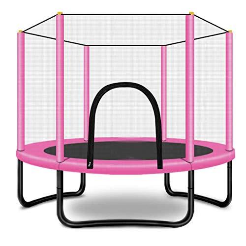 Tesysyet Cama Elástica, Jardín Trampolín, Esgrima Infantil, Esteras, Deportes Al Aire Libre, Juguetes Caseros, Fácil Instalación * 1,5M 1,3M (Color : Pink)