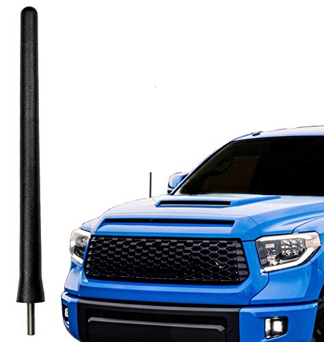 AntennaMastsRus - The Original 6 3/4 Inch is Compatible with Toyota Tundra (2000-2020) - Car Wash Proof Short Rubber Antenna - Internal Copper Coil - Premium Reception - German Engineered