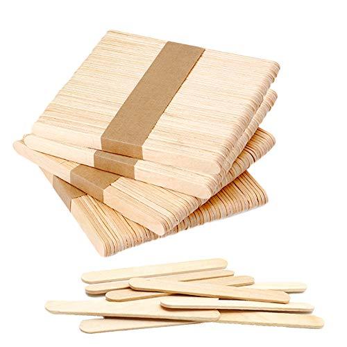 200 PCS Craft Sticks Popsicle Ice Pop Ice Cream Sticks Wooden 4-1/2 Length Treat Sticks Great for DIY Craft Creative Designs