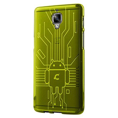Cruzerlite Bugdroid Circuit Schutzhülle für OnePlus 3 / 3T, TPU, Grün