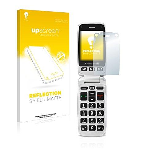 upscreen Entspiegelungs-Schutzfolie kompatibel mit Doro Primo 413 – Anti-Reflex Bildschirmschutz-Folie Matt