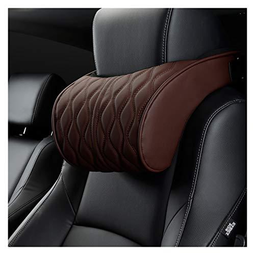 Reposacabezas Memoria de espuma de cazadora de cazadora de cuero de cuero de almohada Soportes de asiento bordados conjuntos Ajuste de cojín trasero Auto cuello de reposo Almohadas lumbares