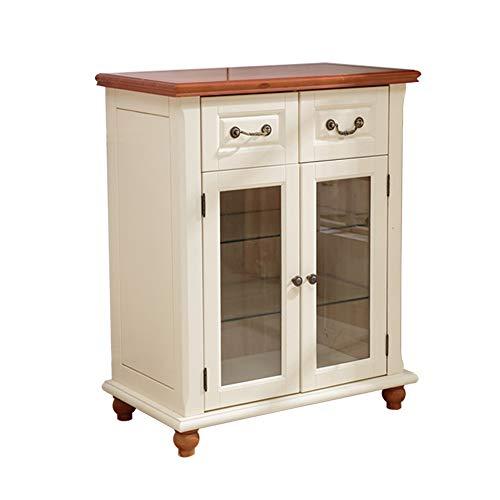 KDOAE Gabinete Lateral Buffet Aparador, Cocina Gabinete de Almacenamiento Mesa Consola Armario con Cajón Entrada y Comedor para Sala de Estar (Color : White, Size : 80x45x100cm)