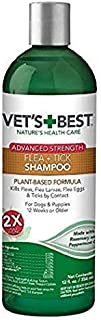 Vet's Best Flea and Tick Advanced Strength Dog Shampoo | Flea Treatment for Dogs | Flea Killer with Certified Natural Oils...