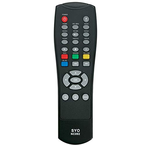 NC092 NC092UL Replacement Remote Control Applicable for Sanyo FWBP505F FWBP505FK FWBP505FP FWBP505FN FWBP505FQ FWBP506FF FWBP507FF Blu-ray Disc DVD Player