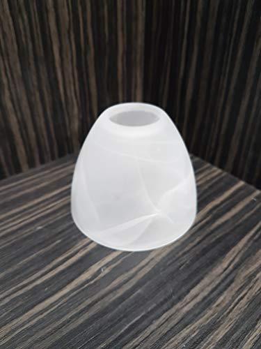 Lampenschirm Fluterleselicht E14 alabasterfarbig Fluter Leselicht Ersatzglas Glas