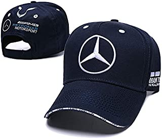 Funsport New Baseball Cap Hat with Car Emblem Unisex for Mercedes-Benz Accessories (Navy)