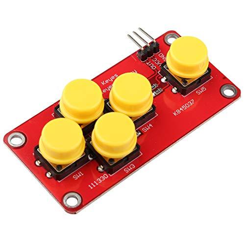 HALJIA AD Tastatur Simulieren elektronische Bausteine, 5 Tasten, Modul Analog-Taste Kompatibel mit Arduino Sensor Expansion Board