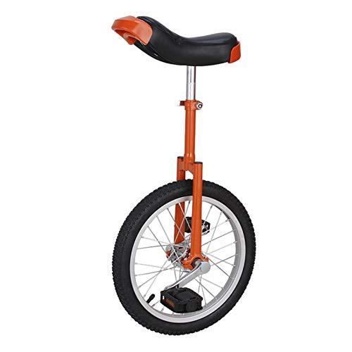 AHAI YU Kinder Unicycle 16-Zoll-Rad für 7-12 Jahre alt, Verstellbarer Sitzrad-Einrad für Ihre Tochter/Sohn, Mädchen/Junge Weihnachten Geschenk (Color : RED)