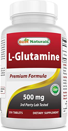 Best Naturals L-Glutamine 500 mg 250 Tablets