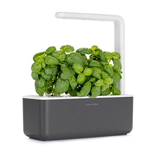 Giardino di aromatiche indoor Click & Grow Smart Garden 3 (Include capsule di semi di basilico), grigio scuro