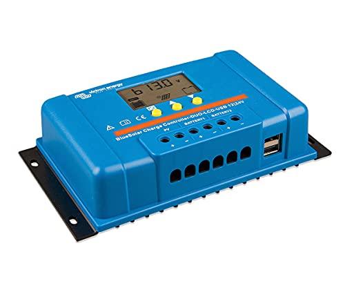 Regulador de Carga Solar 12V / 24V 20A BlueSolar PWM Pantalla LCD/Conexión USB