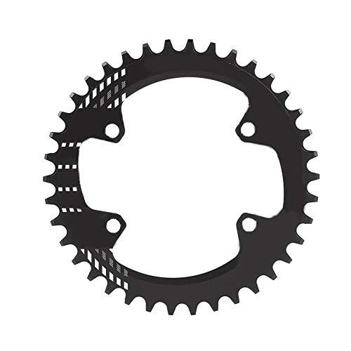 Tbest 32T 34T 36T 38T Schmales breites Kettenblatt 96mm BCD Fahrrad Einzelkettenblatt Schutz Aluminiumlegierung für M6000 M7000 M8000 Shimano Mountainbike (Rot/Schwarz,)(32T-schwarz)