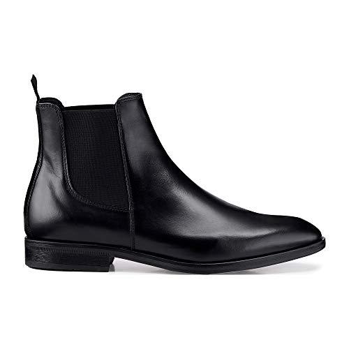 Belmondo Herren Chelsea-Boots Schwarz Glattleder 44