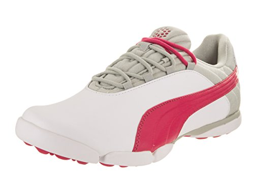 PUMA Golf- Ladies SunnyLite V2 Spikeless Shoes White/Rose Red/Gray Violet Size 8.5 Medium