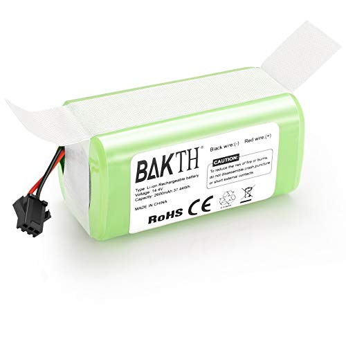 BAKTH 14.4V 2600mAh Li-Ion Batería de Reemplazo para Conga Excellence 990 950 1090, Ecovacs Deebot N79 N79S DN622, Eufy RoboVac 11 11S 12 15C 30 30C 35C, IKOHS NETBOT S14 S15