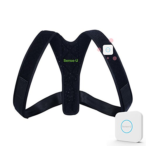 "Sense-U Smart Wearable Posture Trainer Brace That Vibrates When You Slouch (26''-47"")"
