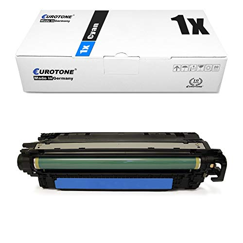 1x Eurotone kompatibler Toner für HP Color Laserjet CP 3525 X DN N ersetzt CE251A 504A