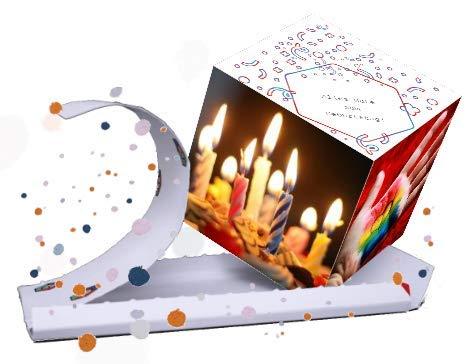 «BOOM!» explodierende Geburtstagskarte - Happy Birthday! Glückwunschkarte zum Geburtstag mit Konfetti! Wow-Effekt für Frau, Mann, Kollegen und / oder Kinder garantiert