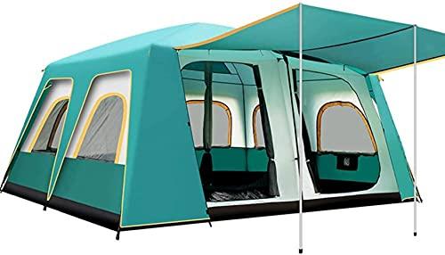 MWKL Carpa Tipo Domo para Festivales con 12 Ventanas Carpa emergente Carpa instantánea para 8-12 Personas Carpa para Campamento Familiar Grande Carpas al Aire Libre Impermeables con 2 dormitorios