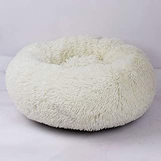 Loosnow Pet Dog Cat Calming Bed Round Nest Warm Soft Plush Comfortable for Sleeping Winter