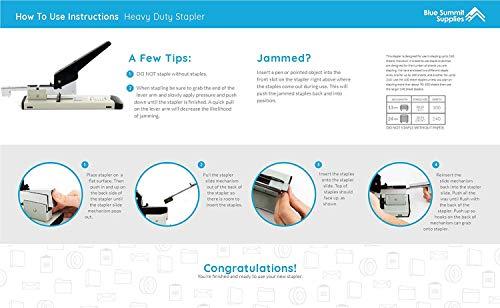 ONDY Heavy Duty Stapler with 1000 Staples, 100 Sheet High Capacity, Office Stapler, Desk Stapler, Big Stapler, Paper Stapler, Commercial Stapler, Large Stapler, Industrial Stapler, Heavy Stapler Photo #2