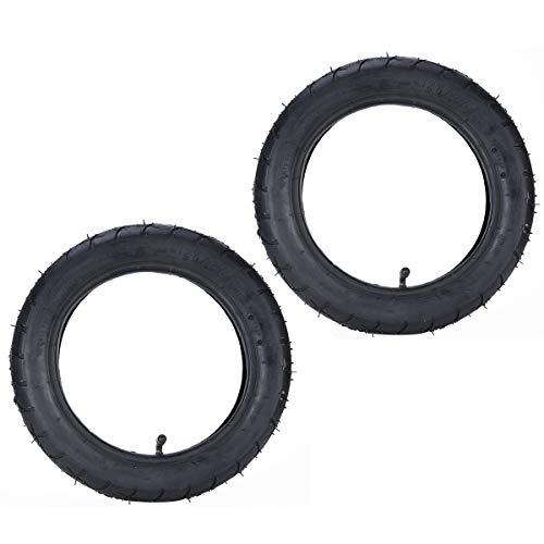 2 juegos de neumáticos de 12,5 x 2,25 pulgadas (12 1/2 x 2 1/4') y cámaras interiores con vástago de válvula curvado TR87 de repuesto para Razor Pocket Mod