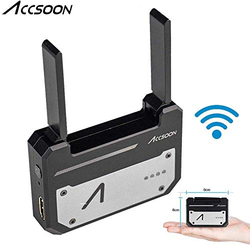 Accsoon CineEye 1080p WiFi HDMI-Videosender 5G Drahtlose Bildübertragung auf 4 Geräte in einer Entfernung von 100 m, Echtzeitüberwachung, Support-Smartphone, RGB, Laden der 3D-LUT